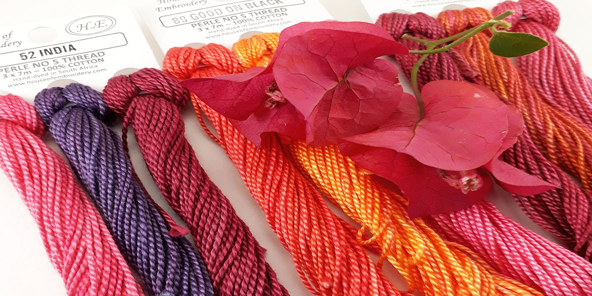 House of Embroidery - Hand-Dyed Embroidery Thread and Ribbon